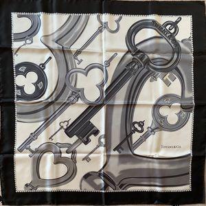 Tiffany & Co. 100% Silk Keys Scarf
